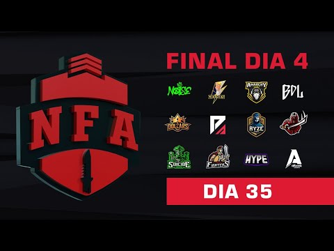 FREE FIRE AO VIVO - FINAL DIA 4 - LIGA NFA SEASON 4 - #NFAS4