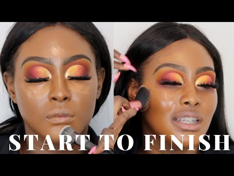 How To Blend Eyeshadow | SUNSET EYES | DETAILED CLIENT TUTORIAL