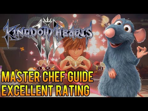 Ⓜ Kingdom Hearts 3 ▸Bistro Cooking Guide (Master Chef) (Excellent Rating) (Eggs = Critical Mode)