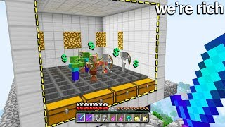 Video so our Skyblock Island was one of the poorest.. but this NEW skyblock grinder can make us RICH! MP3, 3GP, MP4, WEBM, AVI, FLV Juni 2019
