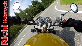 9. Suzuki GS 500 - Riding Fast in Swiss Alps, HD Sound (Malojapass on a motorcycle)