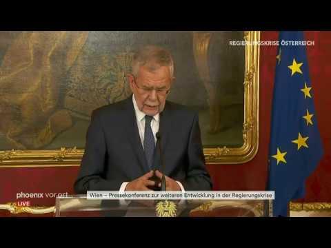 Pressekonferenz von Sebastian Kurz und Alexander Van  ...