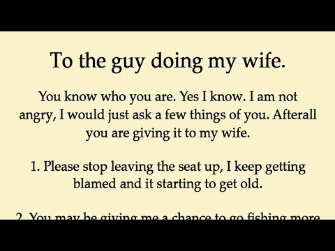 Husband Realized His Wife Is Cheating Rather Than Revenge Just Left A Note For Him