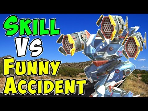 Skill Vs Funny Accident & Bloopers - War Robots Gameplay WR