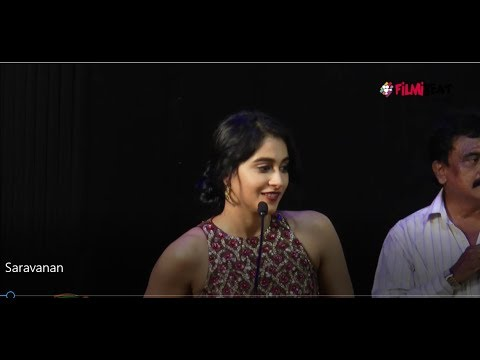 Saravanan Irukka Bayamaen Success Meet-Regina Cassandra Speech- Filmibeat Tamil