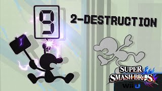 2-Destruction – A Mr. Game & Watch Montage / Combo Video (SSBWiiU)