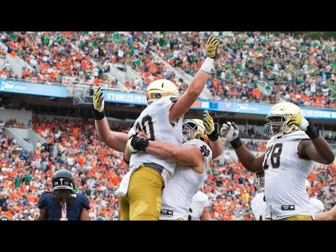 Notre Dame Scores TD On Fake Field Goal vs Virginia | CampusInsiders (видео)