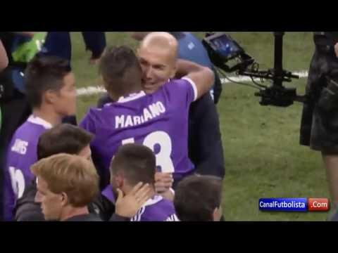 بالفيديو: رودريغيز يتهرب من تحية زيدان خلال احتفالات دوري الأبطال