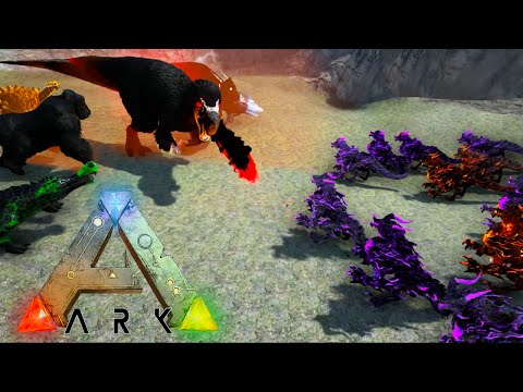 Ark Survival Evolved - DRAGON GOD ARMY VS ALL ARK WARDENS (Ark Gameplay)