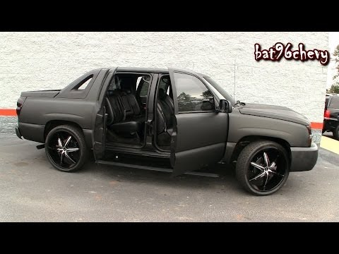 ULTIMATE AUDIO: FLAT BLACK WRAP Chevy Avalanche on 26's - 1080p HD