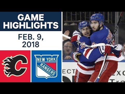Video: NHL Game Highlights | Flames vs. Rangers - Feb. 9, 2018