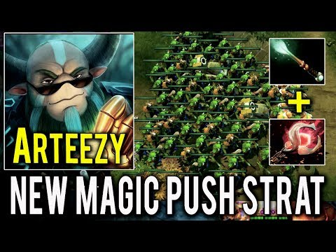 WTF NEW Magic Push Build 19 Min GG Nature's Prophet Crazy Gameplay by Arteezy Dota 2