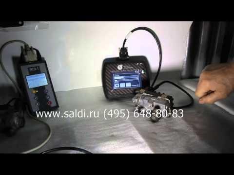 Тест электронного актуатора для автомобильной турбины