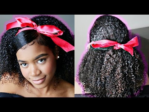 Hairstyles for short hair - QUICK & EASY Valentine's Day Hairstyles for Natural/Curly hair