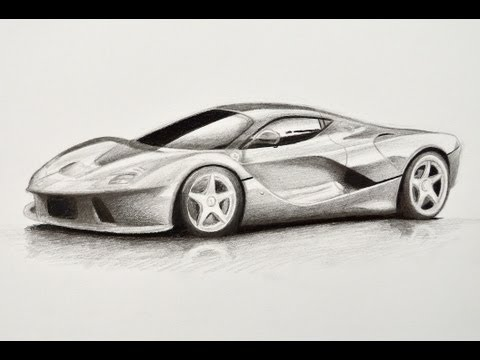 How to Draw a Ferrari – How to Draw a Car