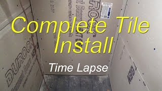 Complete bathroom shower install time lapse start to finish