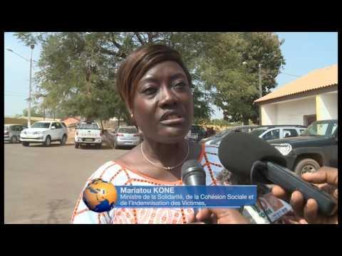 LA MINISTRE MARIATOU KONE INDEMNISE LES VICTIMES DE KORHOGO