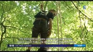 A Trémargat, en Centre-Bretagne, le centre forêt-Bocage de La Chapelle-Neuve (22)organise une colonie de vacances sportive. La particularité est qu'ici, c'est ...
