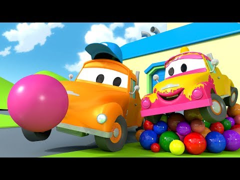 Tom the Tow Truck's Car Wash and BABY TOM | Truck cartoons for kids