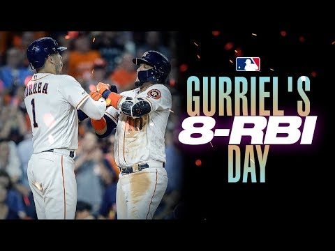 Video: Yuli Gurriel's record-tying 8-RBI day in Houston