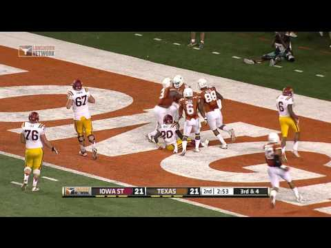 State - Watch Longhorn Network highlights of the Longhorns' thrilling 48-45 win over the Iowa State Cyclones on Saturday, Oct. 18, 2014.