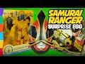 Power Ranger Toys Play Doh Surprise Egg with Imaginext Power Rangers Megaforce & Samurai by ToyRap