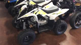 6. 2017 Yamaha Raptor 90 Kids Atv Review & Walk Around