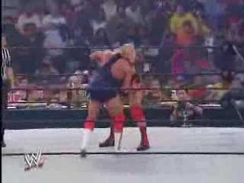 angle - john cena debuts on smackdown in 2002 in a open challenge from kurt angle.