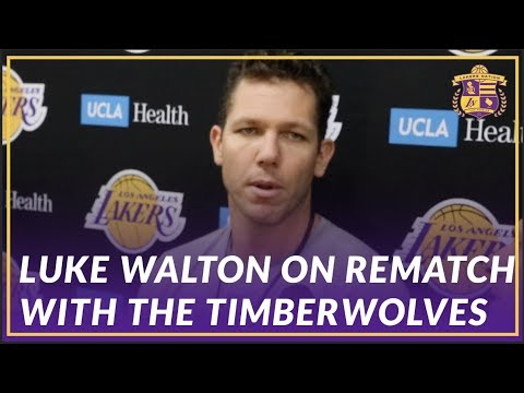 Video: Lakers Interview: Luke Walton Discusses Adjustments for Rematch with the Timberwolves