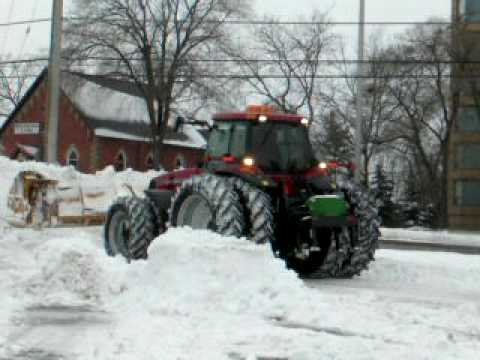 Pushing Snow with a Case MX 255