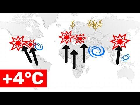 Was passiert, wenn die Erde 4°C wärmer wird?