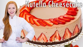 Strawberry Nutella Cheesecake by Tatyana's Everyday Food