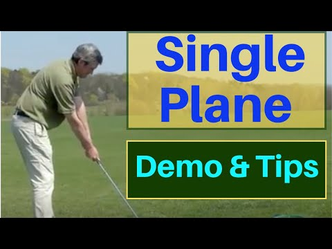 Single Plane (axis) Golf Swing Demo – best online golf instruction – easy to learn