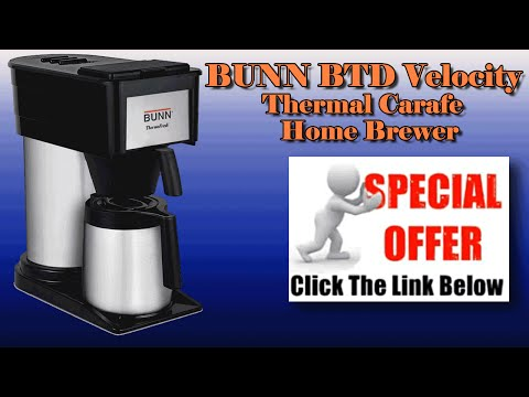 Bunn Coffee Maker - BUNN BTD Velocity High Altitude 10-Cup Thermal Carafe Home Brewer