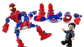 Video Spider-Man Robot Mega Bloks - Super Tech Heroes Building Block Tony Stark for Iron-man MP3, 3GP, MP4, WEBM, AVI, FLV Juli 2018
