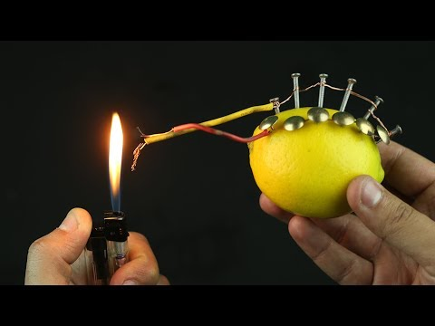 Woow! How To Start Fire With Lemon!