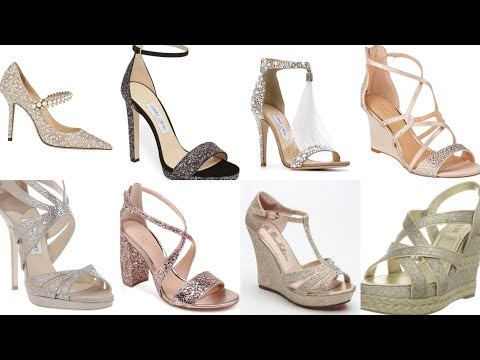 top63 stunning wedge golden/silver wedding shoes/wedding shoes with cover sparkle glitter and stone