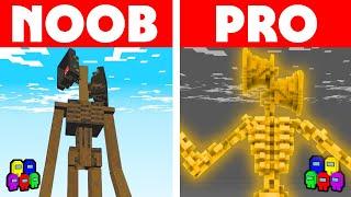Among Us Vs Minecraft - NOOB VS PRO: SIRNEHEAD SURVIVAL CHALLENGE! Minecraft Among us Animation