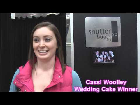 Cassi Woolley chooses the wedding cake over a wedding dress at the Southwest Michigan Bridal Show on Sunday January 13th, 2013 at Wings Stadium.
