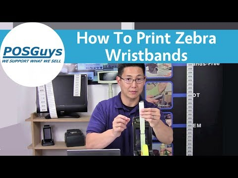Printing Wristbands Basics: Using free ZebraDesigner to create wristbands.