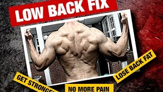 Get Rid Of LOWER BACK FAT And PAIN (Must Watch For Men!)