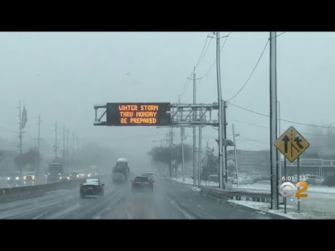 First Snow Storm Of Season Hits New Jersey