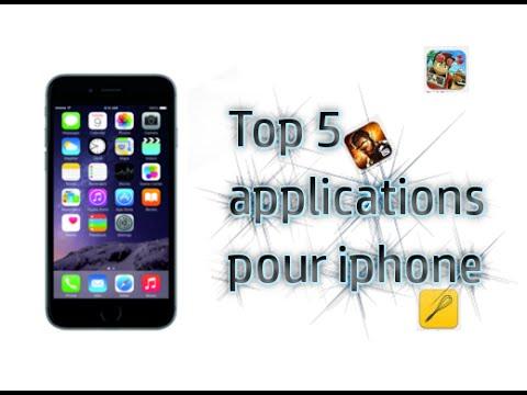 Top 5 applications pour iphone 6 / Janvier