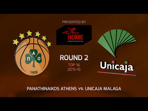 Highlights: Top 16, Round 2, Panathinaikos Athens 68-66 Unicaja Malaga
