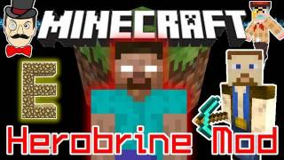 Minecraft HEROBRINE Mod! Chuck Norris Sighting, Herobrine Traps... He's Watching You!