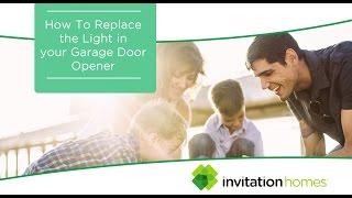 Maintenance how to invitation homes how to replace light in garage door opener stopboris Choice Image