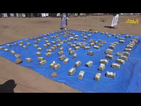 صنعاء - مديرية همدان تقدم قافلة الرسول الأعظم دعماً للمجاهدين في الجبهات بمناسبة المولد النبوي الشريف 1443هـ