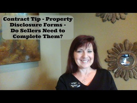 Contract Tip - Seller's Property Disclosure Form - What You Need to Know as a Real Estate Agent