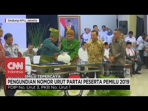 (FULL) Penetapan No. Urut Parpol Peserta Pemilu 2019