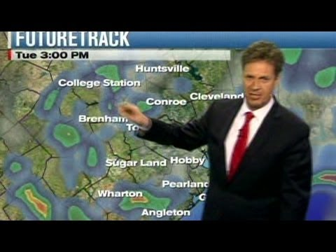hiccups - A Texas weatherman is overcome by hiccups during live storm coverage. CNN's Jeanne Moos' forecast: funny. For more CNN videos, visit our site at http://www.c...